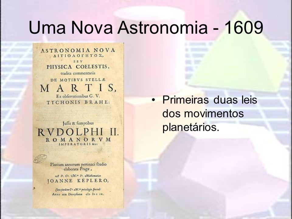 Uma Nova Astronomia - 1609 Primeiras duas leis dos movimentos planetários.