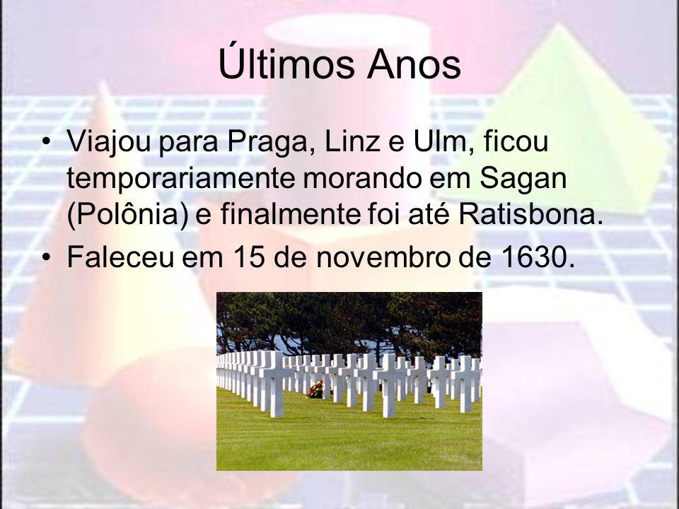 Últimos Anos Viajou para Praga, Linz e Ulm, ficou temporariamente morando em Sagan (Polônia) e finalmente foi até Ratisbona. Faleceu em 15 de novembro