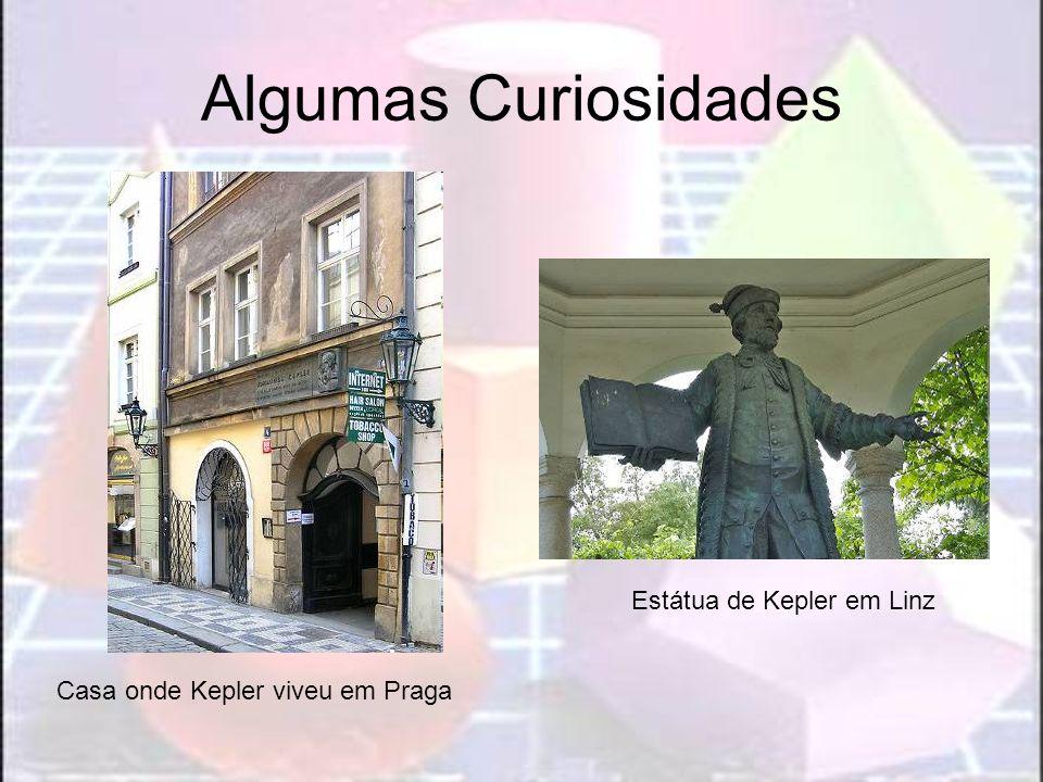 Algumas Curiosidades Casa onde Kepler viveu em Praga Estátua de Kepler em Linz