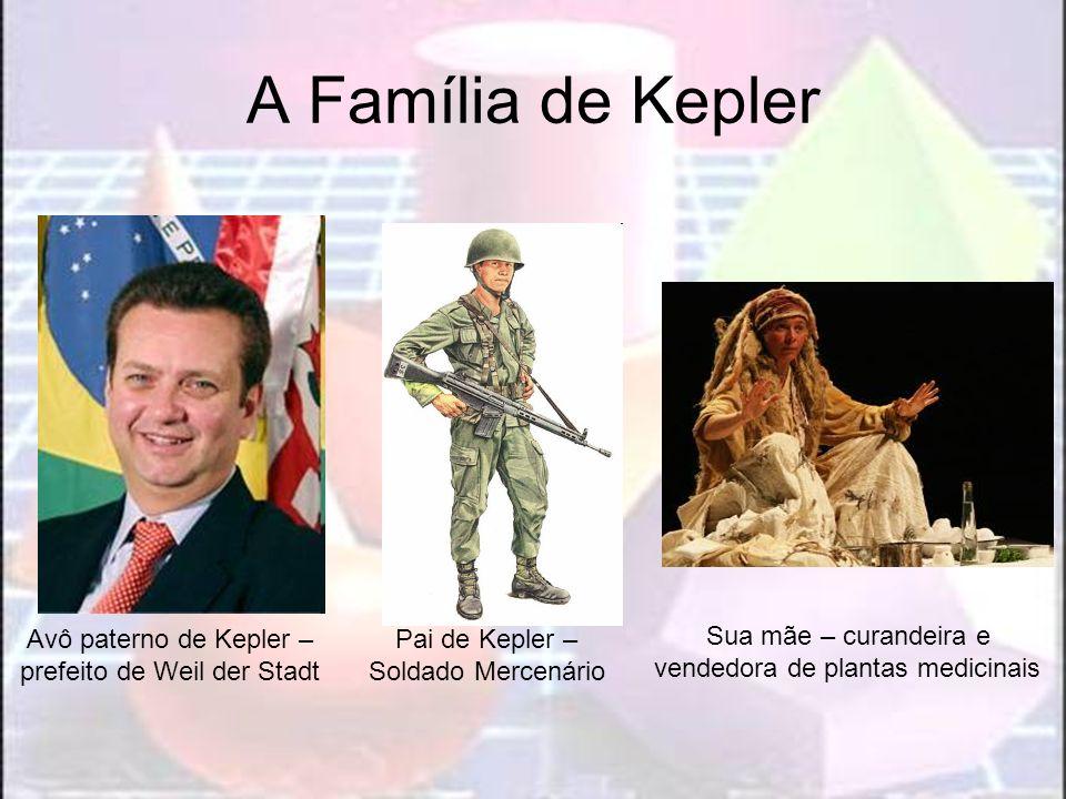 Avô paterno de Kepler – prefeito de Weil der Stadt Pai de Kepler – Soldado Mercenário Sua mãe – curandeira e vendedora de plantas medicinais A Família