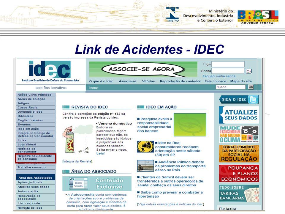 Link de Acidentes - IDEC