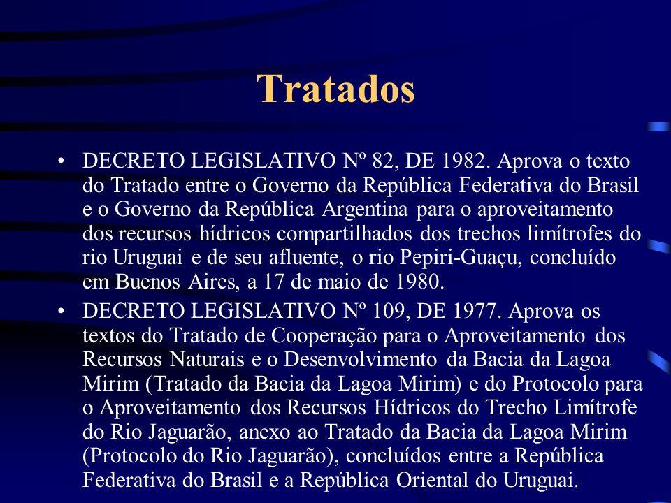 Tratados DECRETO LEGISLATIVO Nº 82, DE 1982. Aprova o texto do Tratado entre o Governo da República Federativa do Brasil e o Governo da República Arge