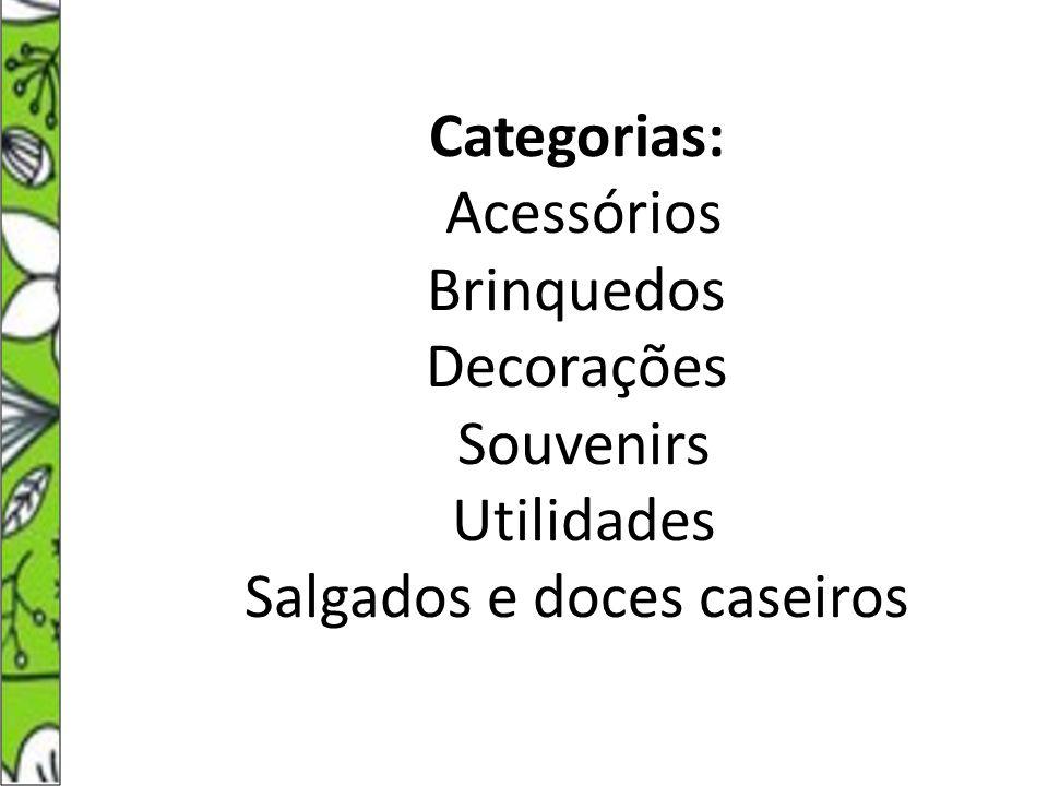 Categoria: Souvenirs Produto: Magrelas de Biscuit Artesã: Edna dos Santos Viana Saúde Idade: 50 anos Bairro: Cidade Continental Produção mensal: 100 Matéria Prima: Cola, amido de milho e tintas coloridas.