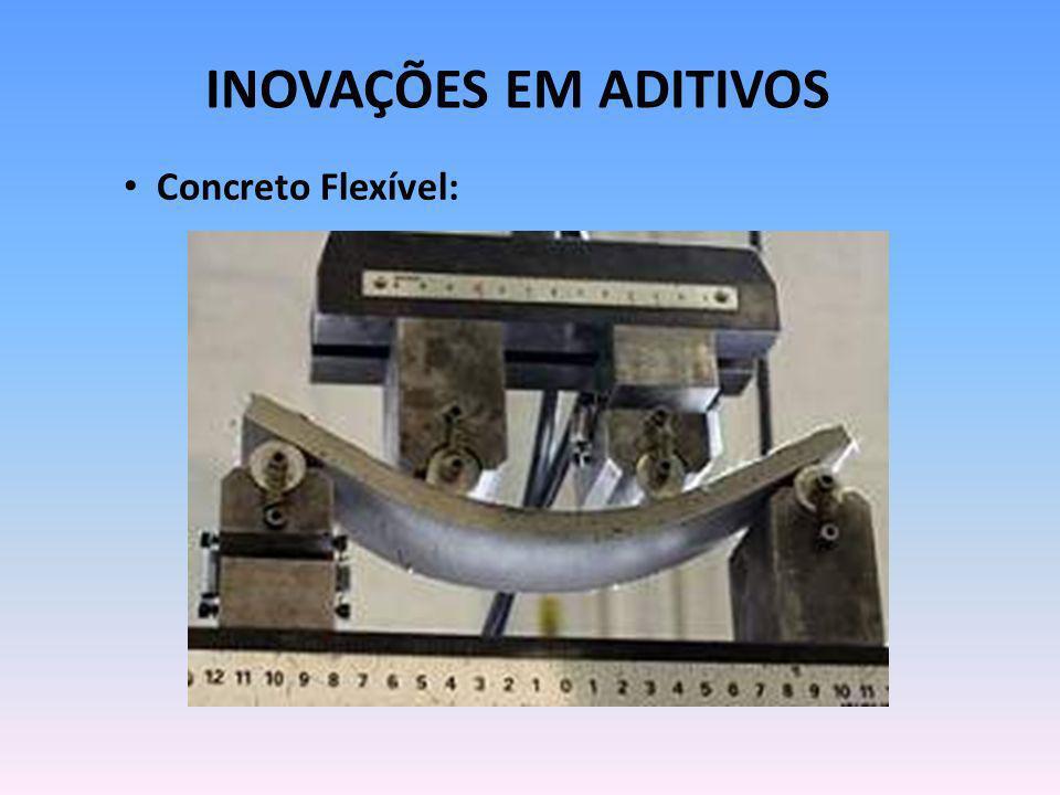 INOVAÇÕES EM ADITIVOS Concreto Flexível: