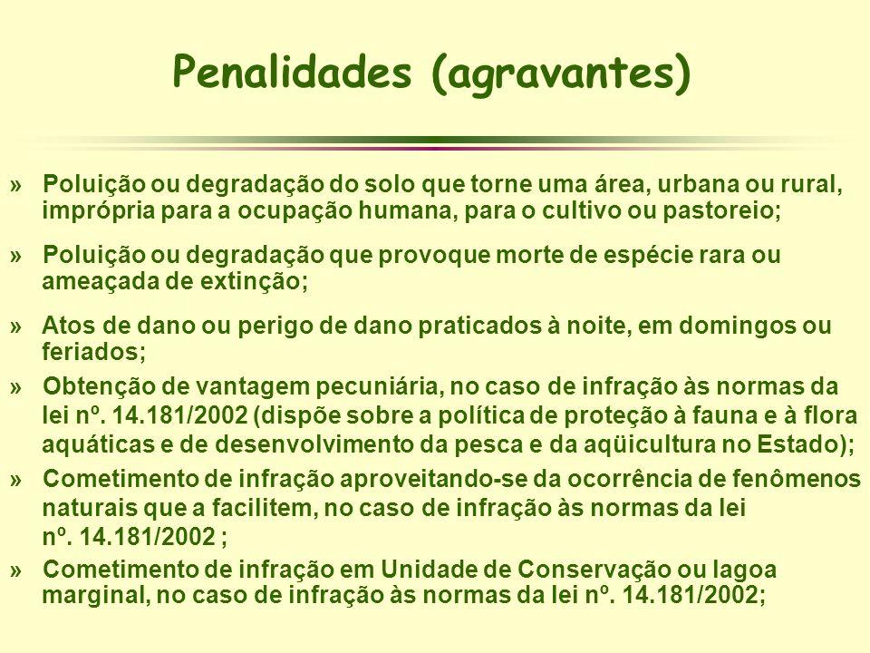 Penalidades (agravantes) » Poluição ou degradação do solo que torne uma área, urbana ou rural, imprópria para a ocupação humana, para o cultivo ou pas