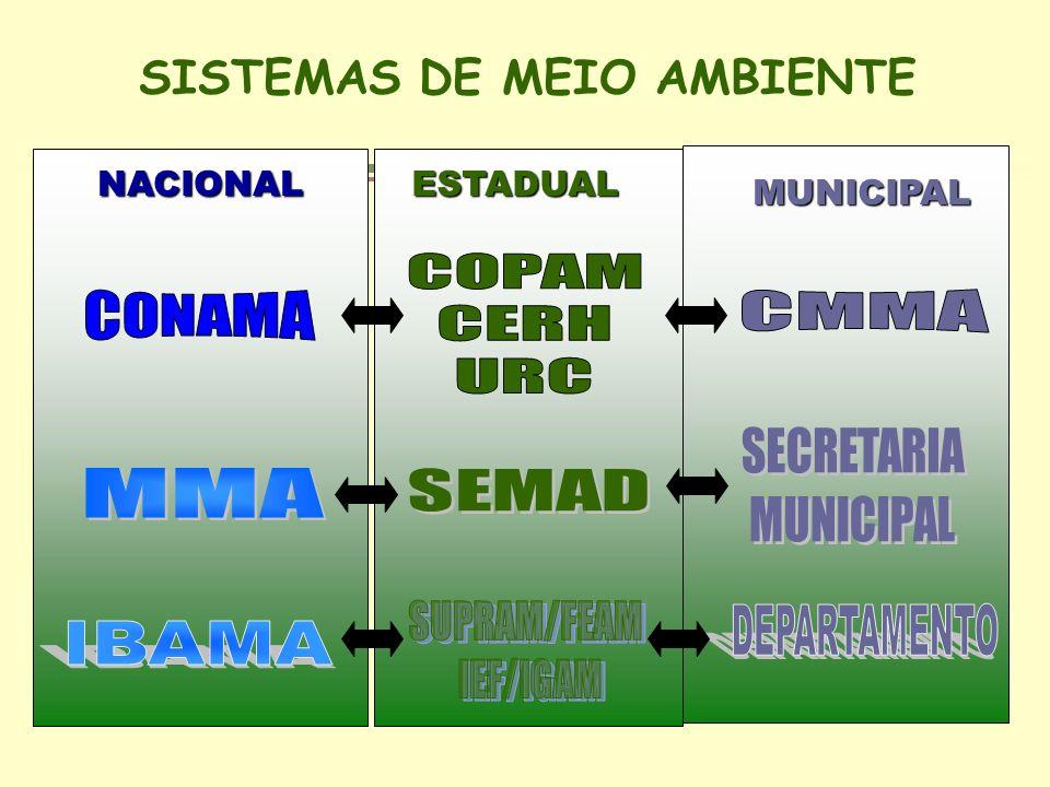 NACIONALESTADUAL MUNICIPAL SISTEMAS DE MEIO AMBIENTE