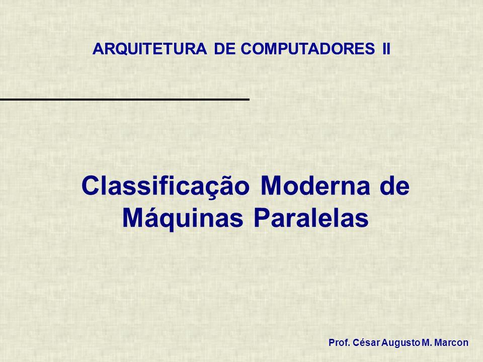 Classificação Moderna de Máquinas Paralelas Prof. César Augusto M. Marcon ARQUITETURA DE COMPUTADORES II
