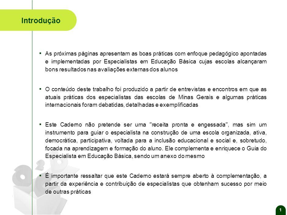 Caderno de Boas Práticas dos Especialistas em Educação Básica de Minas Gerais Secretaria de Estado de Educação de Minas Gerais-2010