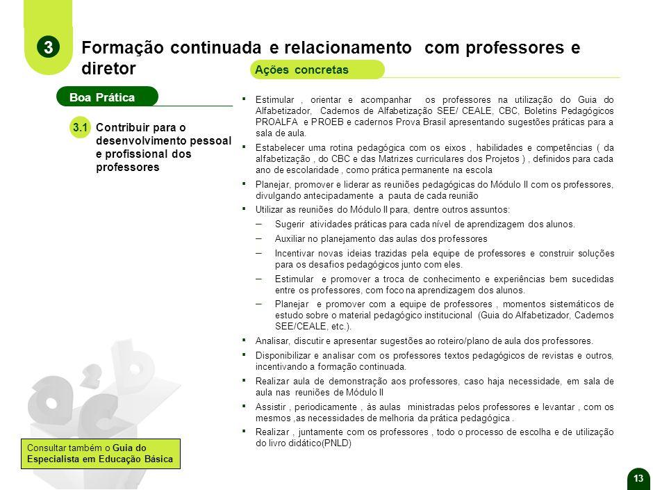 12 Orientação e acompanhamento do desenvolvimento dos alunos Fazer a análise do desempenho da escola e dos alunos nas avaliações externas e internas e