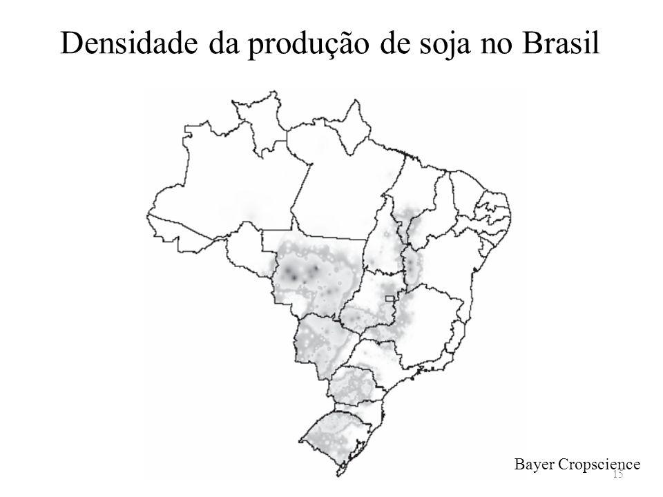 Densidade da produção de soja no Brasil Bayer Cropscience 15