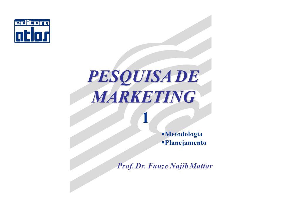 PESQUISA DE MARKETING 1 Metodologia Planejamento Prof. Dr. Fauze Najib Mattar