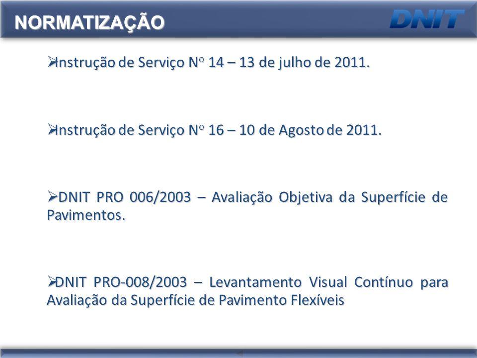 Instrução de Serviço N o 14 – 13 de julho de 2011. Instrução de Serviço N o 14 – 13 de julho de 2011. Instrução de Serviço N o 16 – 10 de Agosto de 20