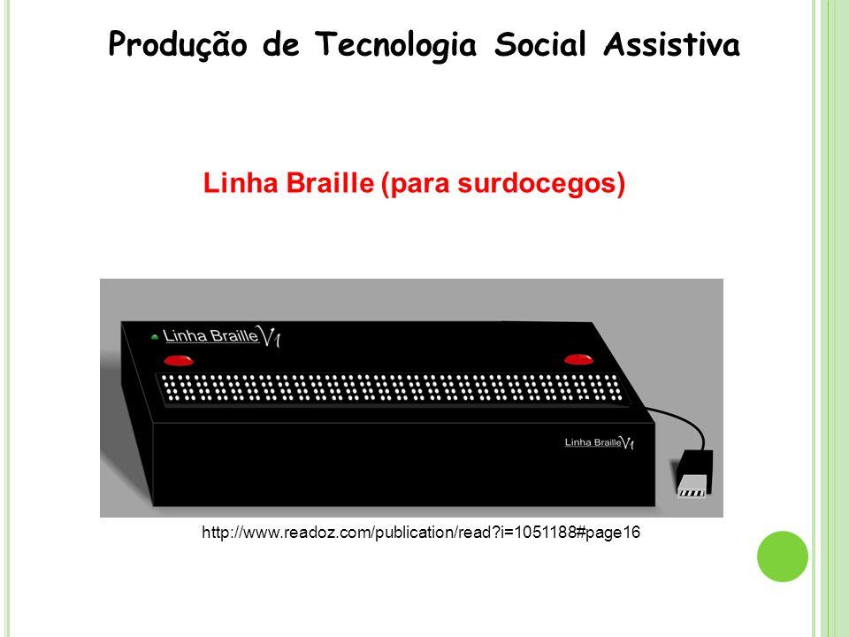 Pesquisa Pessoas com Deficiência no BPC Trabalho BPC Trabalho: identidade e constituição do sujeito Produção de Tecnologia Social Assistiva