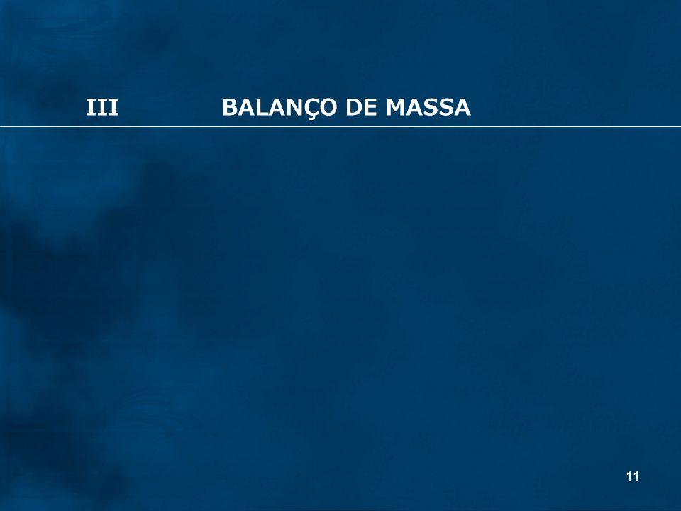 11 IIIBALANÇO DE MASSA