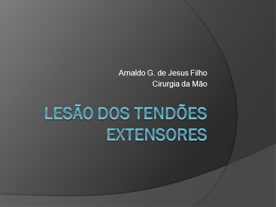 Arnaldo G. de Jesus Filho Cirurgia da Mão