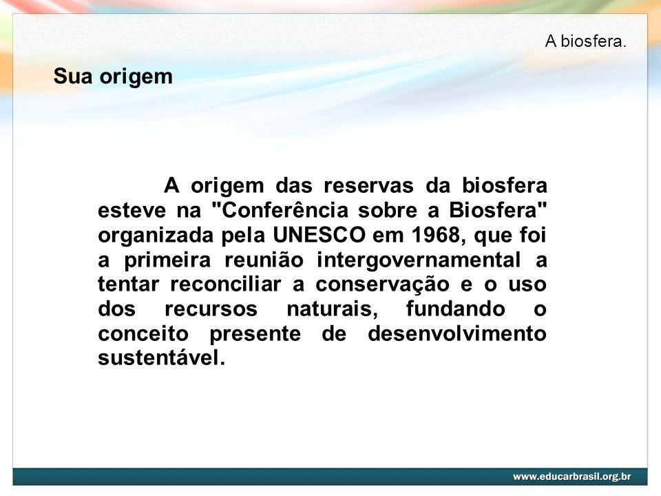 Sua origem A origem das reservas da biosfera esteve na