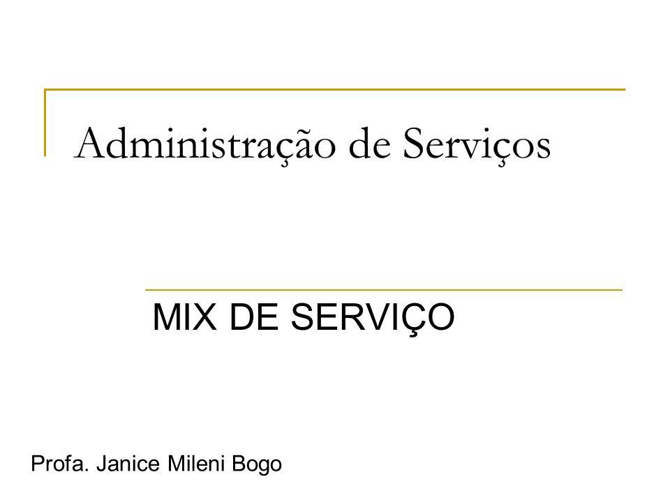 Administração de Serviços MIX DE SERVIÇO Profa. Janice Mileni Bogo