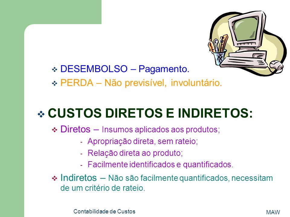 MAW Contabilidade de Custos DESEMBOLSO – Pagamento.