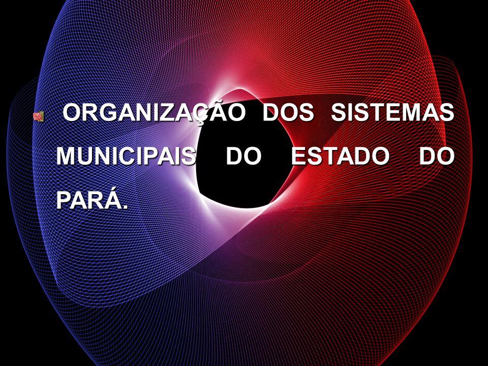 ORGANIZAÇÃO DOS SISTEMAS MUNICIPAIS DO ESTADO DO PARÁ. ORGANIZAÇÃO DOS SISTEMAS MUNICIPAIS DO ESTADO DO PARÁ.
