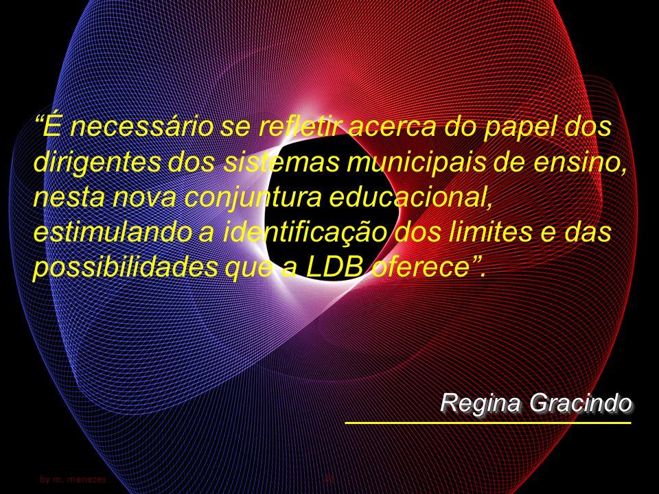 by m. menezes41 É necessário se refletir acerca do papel dos dirigentes dos sistemas municipais de ensino, nesta nova conjuntura educacional, estimula