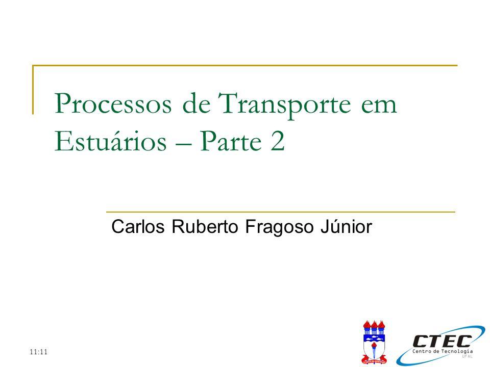 11:11 Processos de Transporte em Estuários – Parte 2 Carlos Ruberto Fragoso Júnior