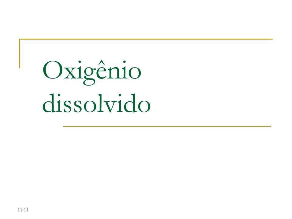 11:11 Oxigênio dissolvido