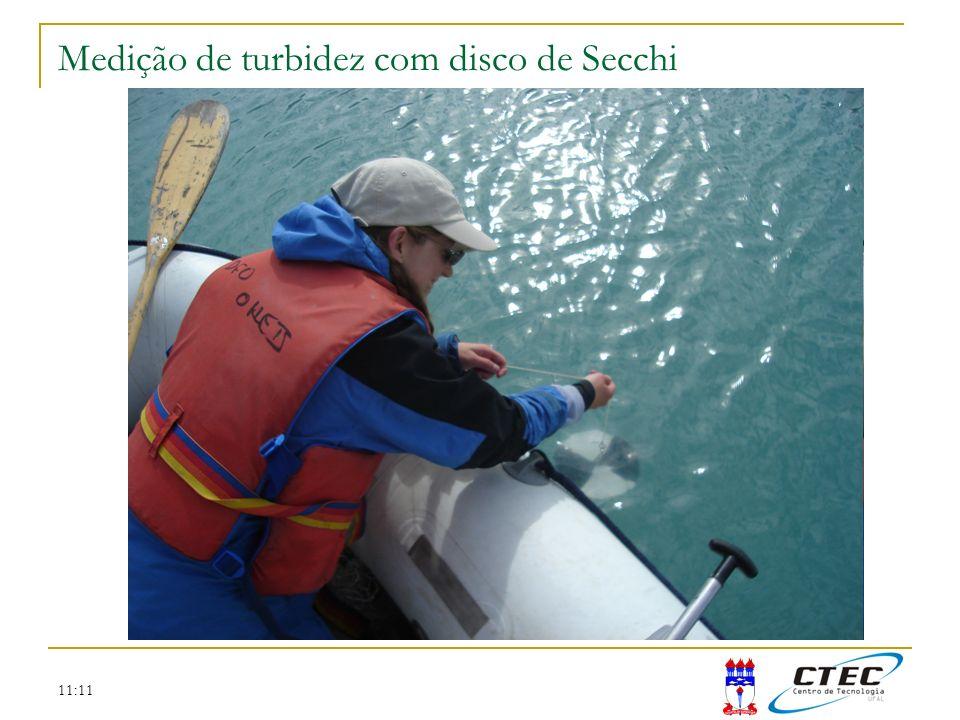 11:11 Medição de turbidez com disco de Secchi