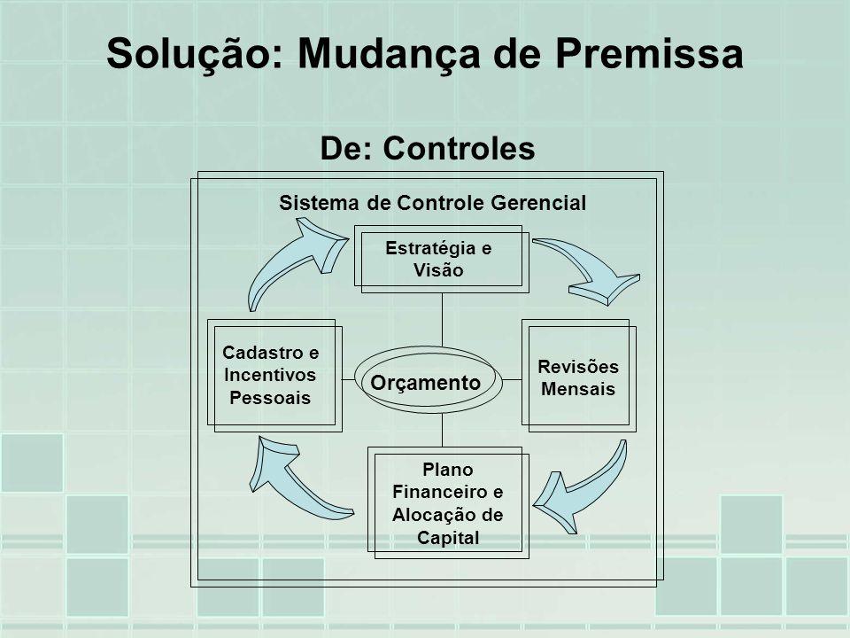 Estratégia e Visão Cadastro e Incentivos Pessoais Revisões Mensais Sistema de Controle Gerencial Orçamento Plano Financeiro e Alocação de Capital Solu