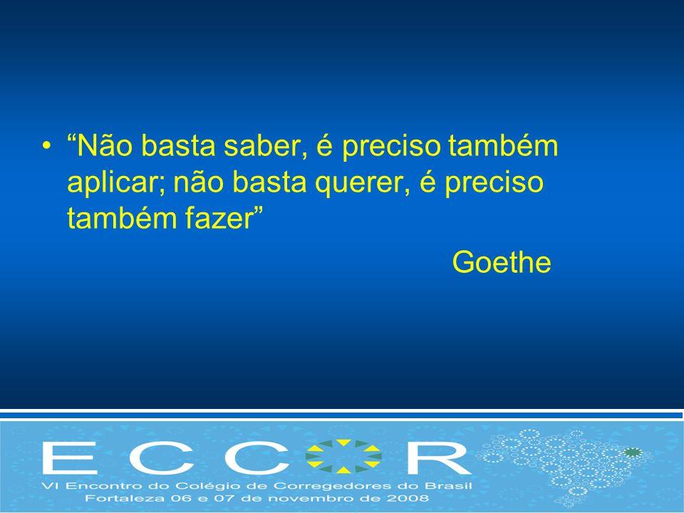 Não basta saber, é preciso também aplicar; não basta querer, é preciso também fazer Goethe