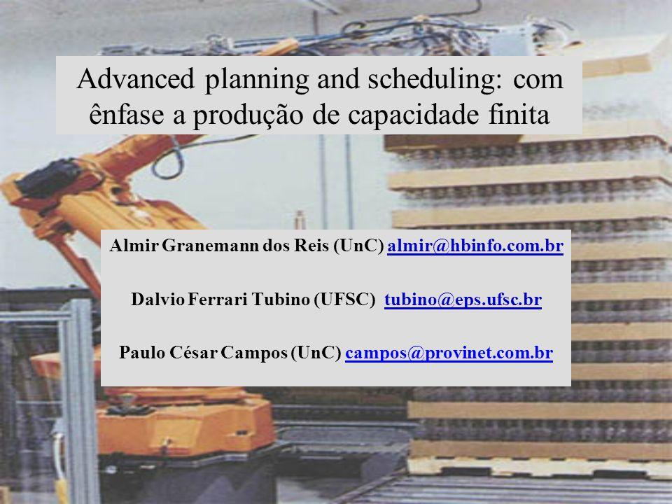 Advanced planning and scheduling: com ênfase a produção de capacidade finita Almir Granemann dos Reis (UnC) almir@hbinfo.com.bralmir@hbinfo.com.br Dal
