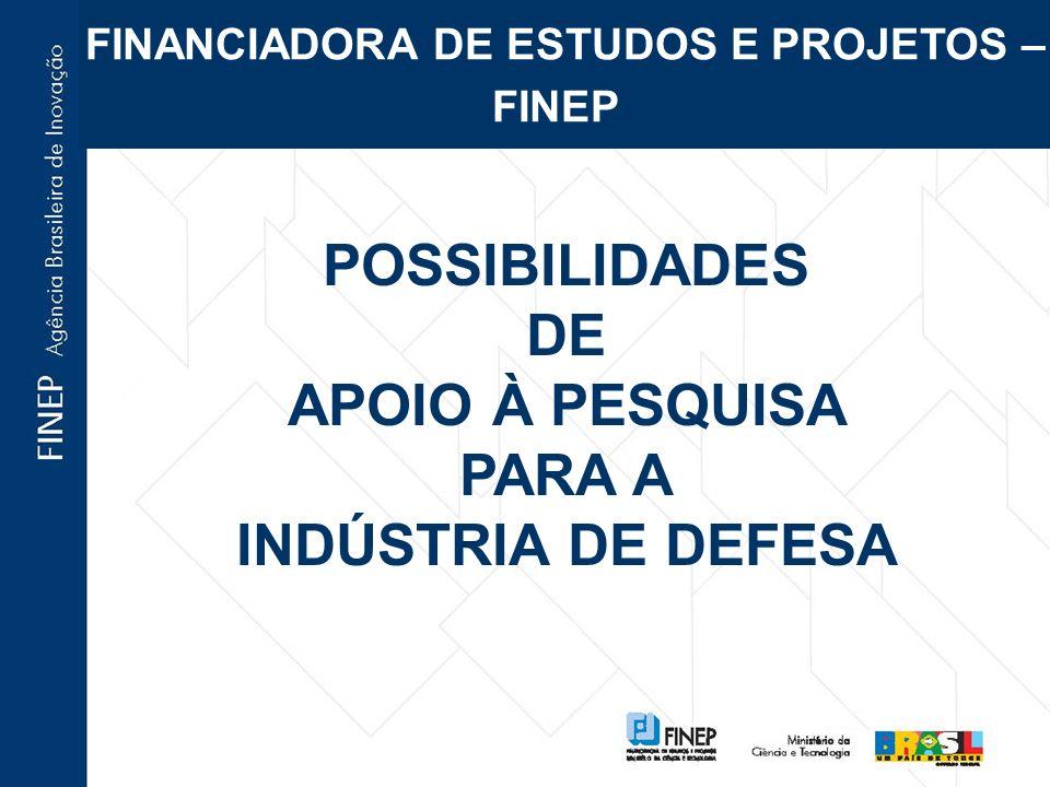 FNDCT- FUNDOS SETORIAIS DE C&T Instrumentos de financiamento de projetos de P,D&I em diversos setores da economia; contribuições incidentes sobre exploração de recursos naturais pertencentes à União ou sobre impostos/faturamento/CIDE de empresas de setores específicos.