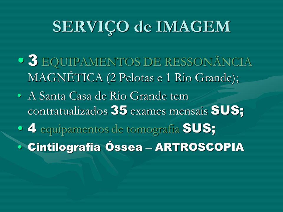 SERVIÇO de IMAGEM 3 EQUIPAMENTOS DE RESSONÃNCIA MAGNÉTICA (2 Pelotas e 1 Rio Grande);3 EQUIPAMENTOS DE RESSONÃNCIA MAGNÉTICA (2 Pelotas e 1 Rio Grande