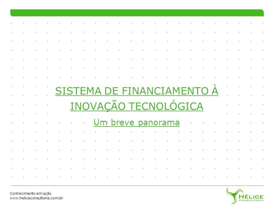 Conhecimento em ação www.heliceconsultoria.com.br SISTEMA DE FINANCIAMENTO À INOVAÇÃO TECNOLÓGICA Um breve panorama