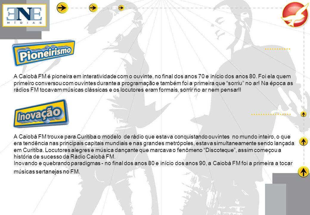 Já acumulou mais de 10 Top Of Minds como marca de rádio mais lembrada no Paraná.