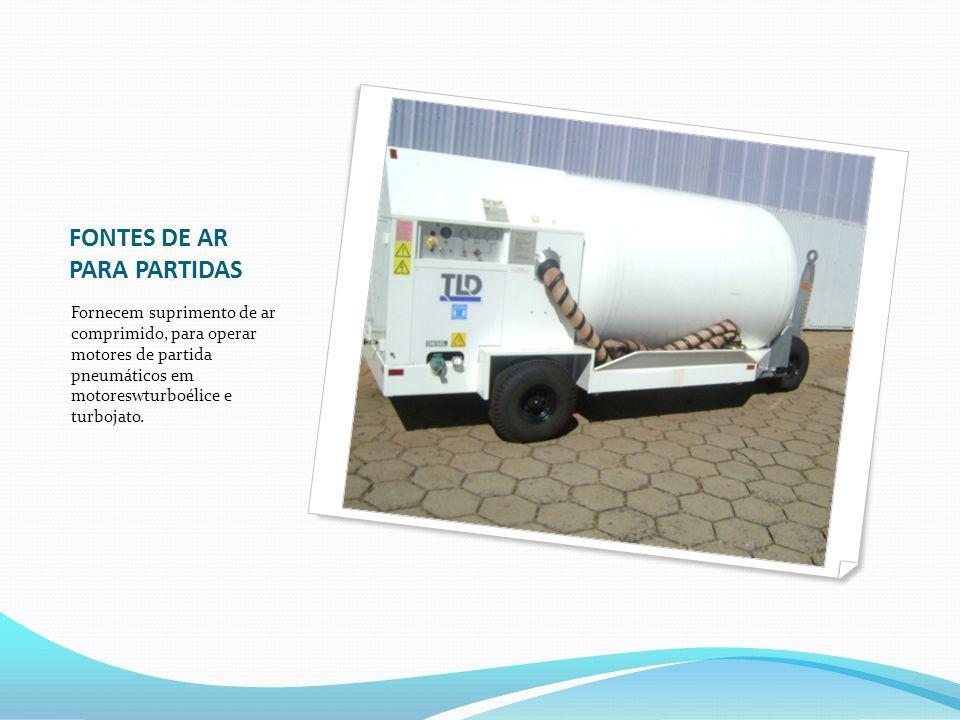 FONTES DE AR PARA PARTIDAS Fornecem suprimento de ar comprimido, para operar motores de partida pneumáticos em motoreswturboélice e turbojato.