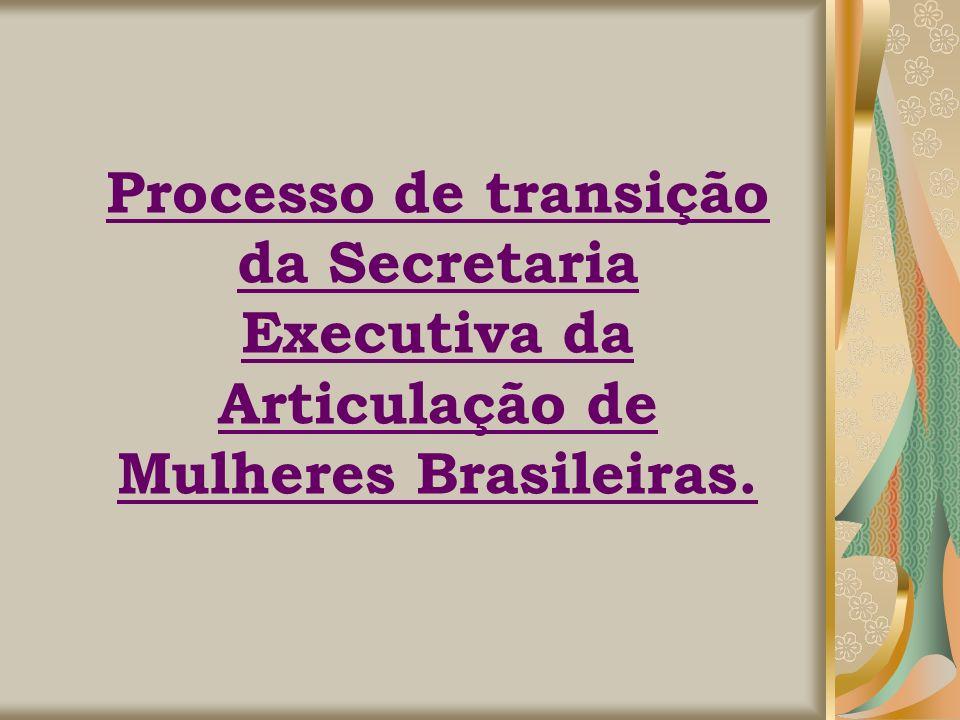 Processo de transição da Secretaria Executiva da Articulação de Mulheres Brasileiras.