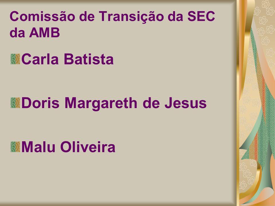 Comissão de Transição da SEC da AMB Carla Batista Doris Margareth de Jesus Malu Oliveira