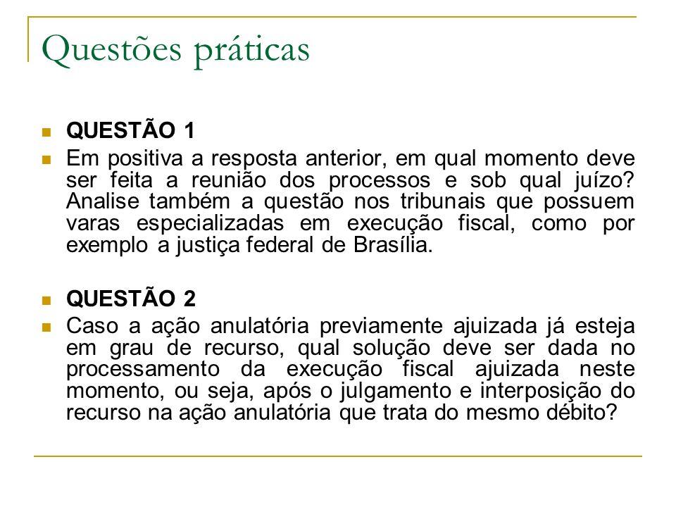 Questões práticas QUESTÃO 1 Em positiva a resposta anterior, em qual momento deve ser feita a reunião dos processos e sob qual juízo? Analise também a