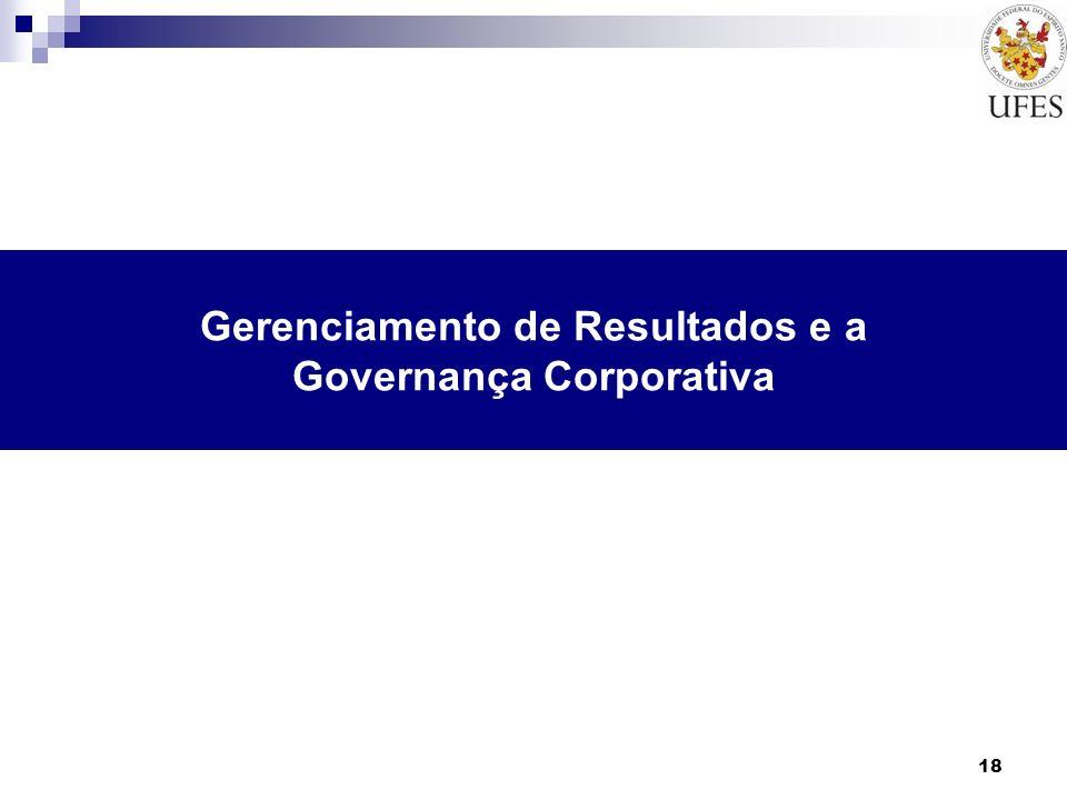 18 Gerenciamento de Resultados e a Governança Corporativa