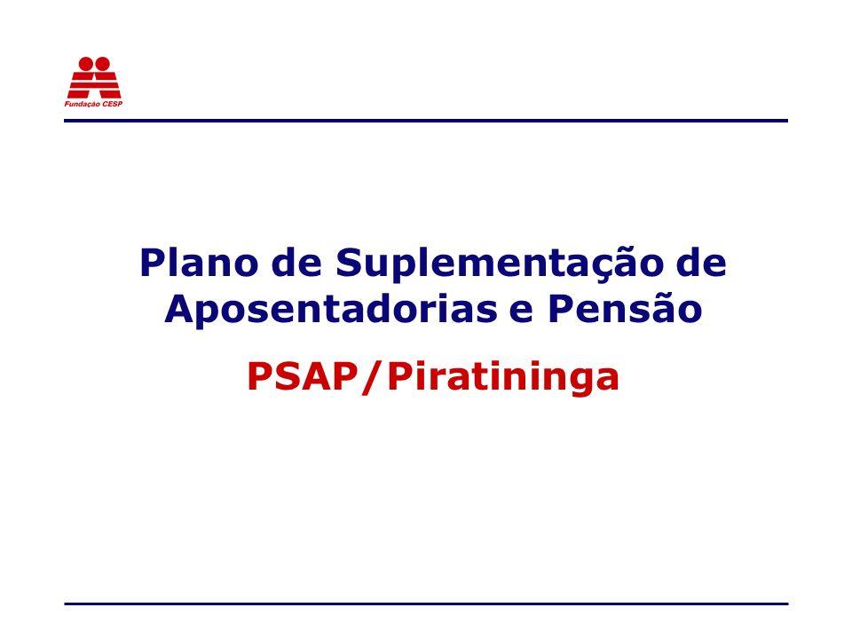 Plano de Suplementação de Aposentadorias e Pensão PSAP/Piratininga