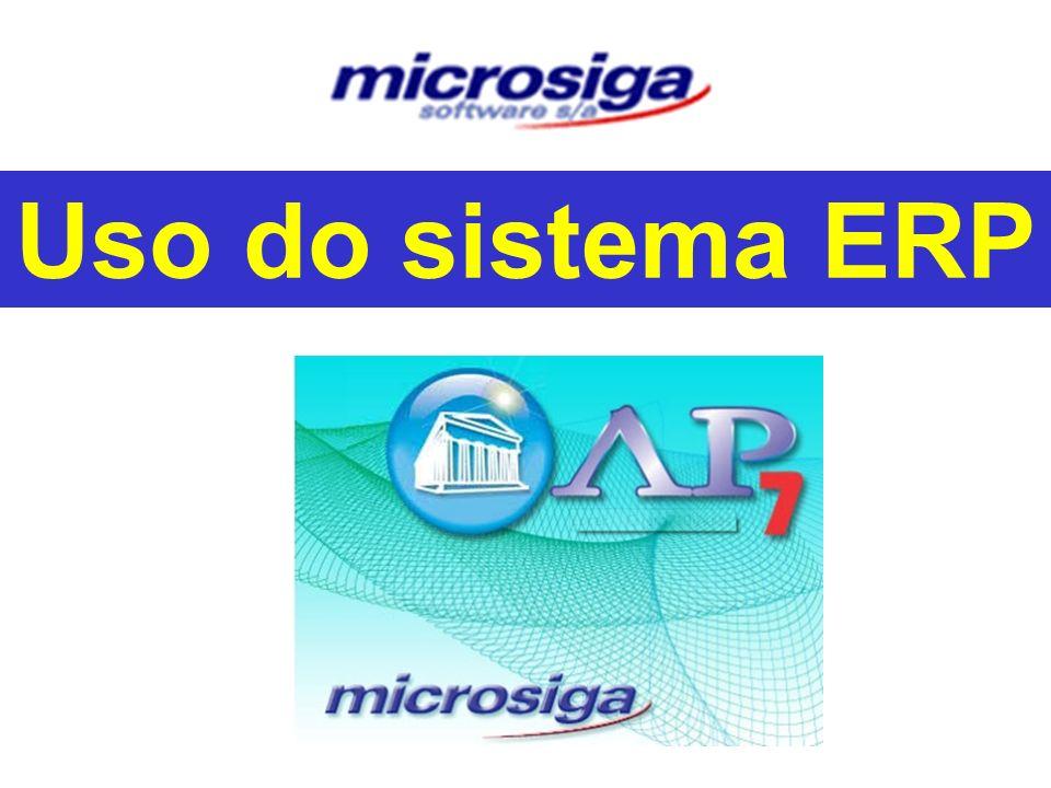 Uso do sistema ERP