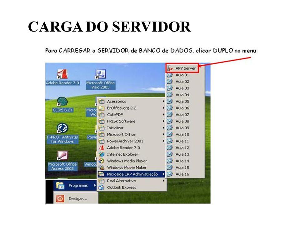 CARGA DO SERVIDOR