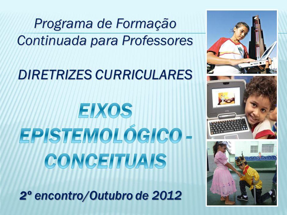 Programa de Formação Continuada para Professores DIRETRIZES CURRICULARES 2 º encontro/Outubro de 2012