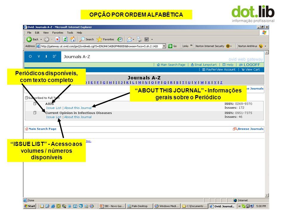 OPÇÃO POR ASSUNTO Medicina Clínica Distribuido em sub-itens