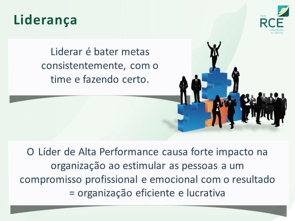 Liderança O Líder de Alta Performance causa forte impacto na organização ao estimular as pessoas a um compromisso profissional e emocional com o resul