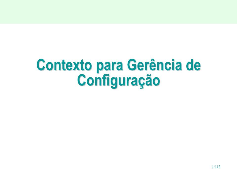 1/113 Contexto para Gerência de Configuração