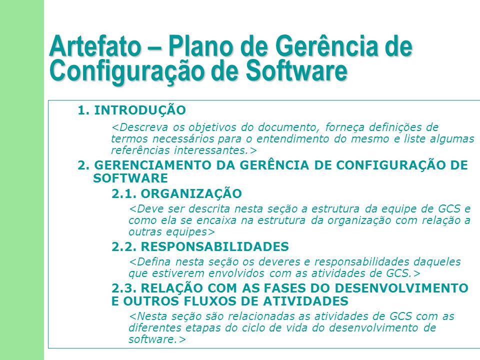 92/113 Artefato – Plano de Gerência de Configuração de Software 1. INTRODUÇÃO 2. GERENCIAMENTO DA GERÊNCIA DE CONFIGURAÇÃO DE SOFTWARE 2.1. ORGANIZAÇÃ