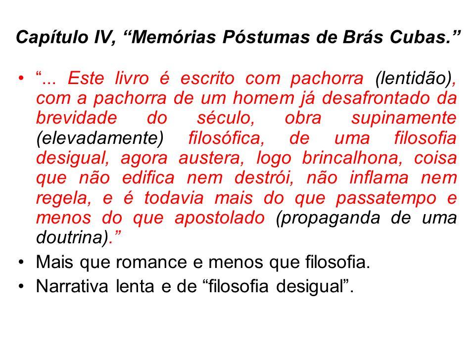 Capítulo IV, Memórias Póstumas de Brás Cubas....