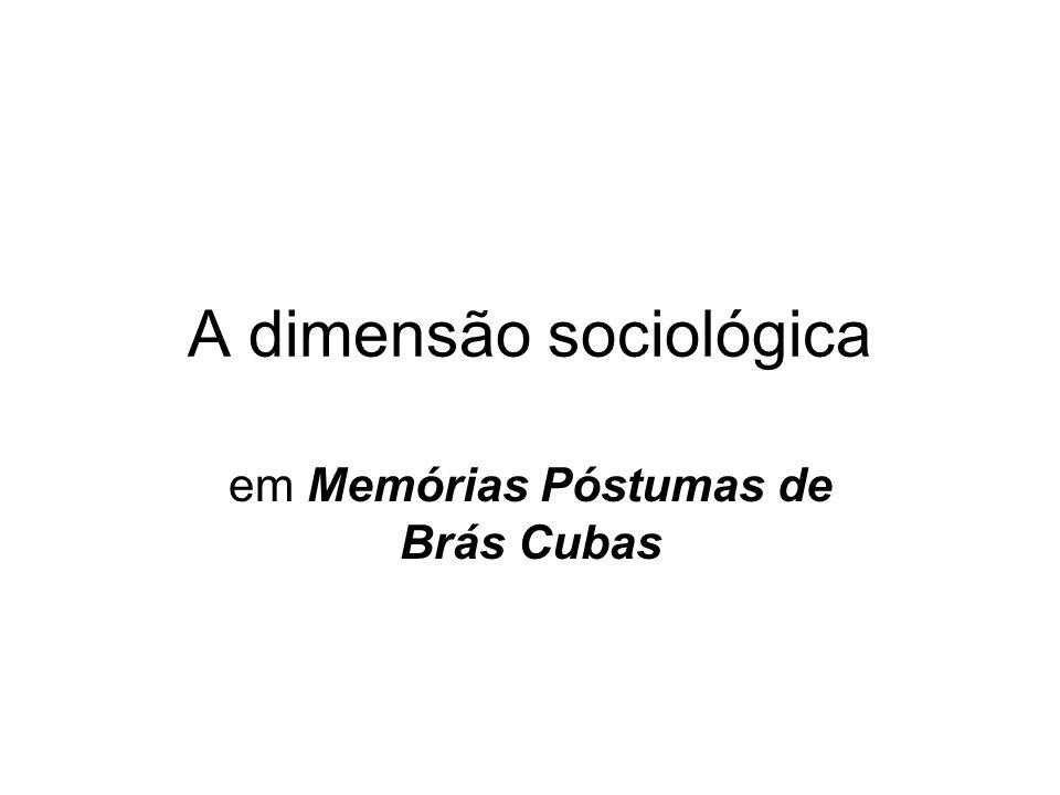 A dimensão sociológica em Memórias Póstumas de Brás Cubas