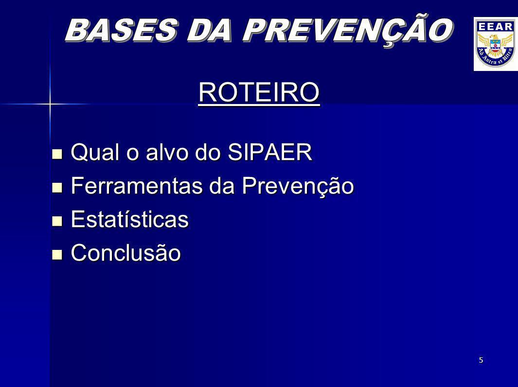 4 OBJETIVO Apresentar a Base das Atividades de Prevenção de Acidentes Aeronáuticos, por meio do conhecimento dos mecanismos que contribuem para evitar